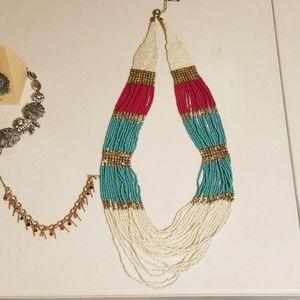 Marrakesh multi strand beaded necklace